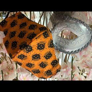 Mystic Cats Face Mask black sparkle reversible